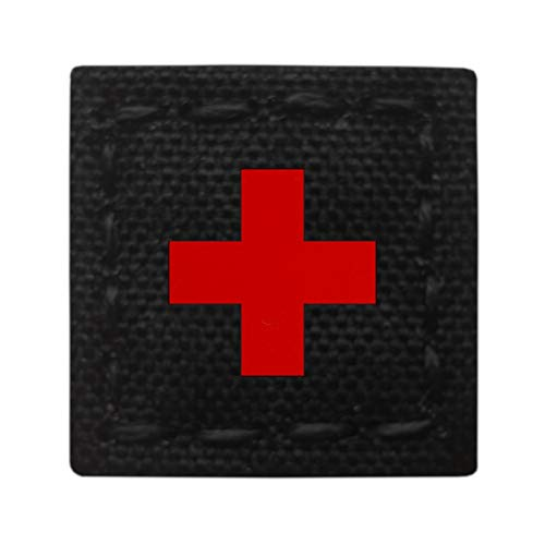 Micro Patch 1x1 Red Cross Multicam Reflective at Night MED Medical EMS EMT Tactical Morale (Army Cross)