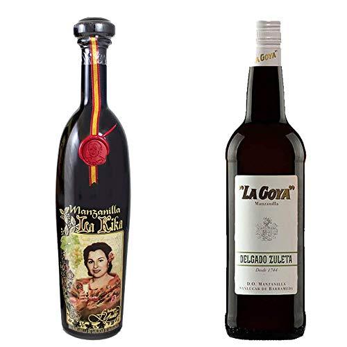 Manzanilla La Kika Y Manzanilla La Goya - D. O. Manzanilla De Sanlúcar De Barrameda - 2 Botellas De 750 Ml