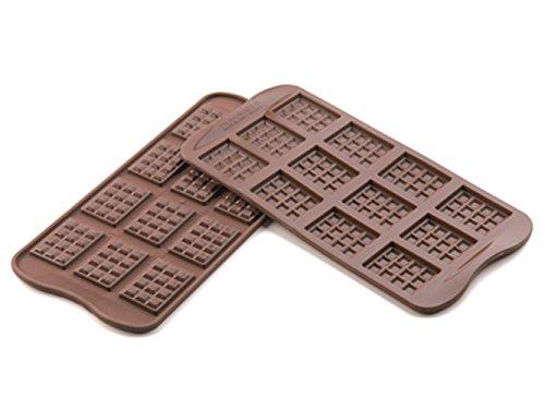 SCG11 Molde de silicona para chocolatines con forma de tablitas, color marrón