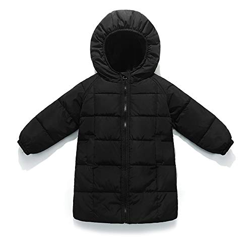 LXIANGP Coton Enfants garçons Manteau Long Coton vêtements Femme bébé épaississement Veste en Coton à Capuchon vêtements d'hiver pour Enfants Les Hommes et Les Femmes Peuvent être (90cm-140cm)