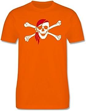Bunt gemischt Kinder - Totenkopf Pirat Kopftuch - Kinder T-Shirt