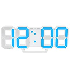 Idea Regalo - Decdeal Orologio Digitale a Parete a LED 12h/24h Tempo di Visualizzazione con Allarme e Snooze Regolazione della Luminosità