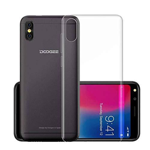 LJSM Hülle Doogee X53 Weiche Handyhülle Transparent TPU Silikon Schutzhülle Durchsichtig Klar Tasche Handytasche Cover Schale Case für Doogee X53 (5.3