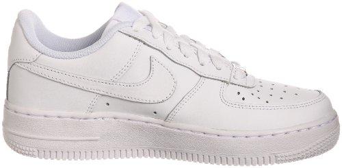Nike Air Force 1 (Gs), Chaussures de Sport Garçon Blanc