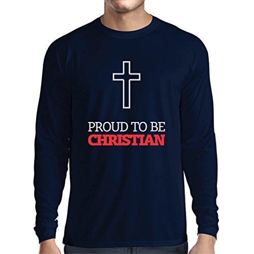 Langarm Herren t Shirts Stolz darauf, Christ zu Sein!, gebraucht gebraucht kaufen  Wird an jeden Ort in Deutschland