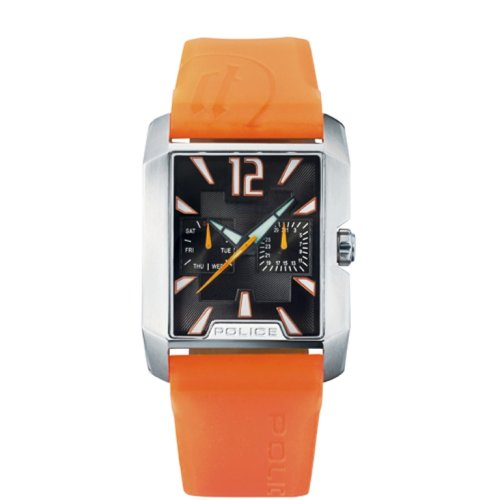 Police PX11663N6 - Reloj analógico de cuarzo unisex, correa de caucho color amarillo
