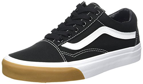 Vans Old Skool Canvas, Sneaker Unisex-Adulto Nero (Gum Bumper/ Black/true White)