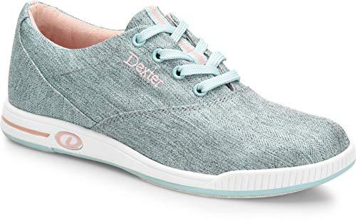 Comfort Canvas Kerrie - Mint/Pfirsich - Bowling-Schuhe Damen, für Rechts- und Linkshänder in den Schuhgrößen 36-41 und Mein-Bowlingshop.de Schuhtasche Größe 38