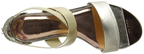 Ted Baker Laana, Sandales Bout Ouvert Femme Or (Gold)