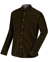 Regatta Mens Benton Coolweave Button Down Long Sleeve Casual Shirt