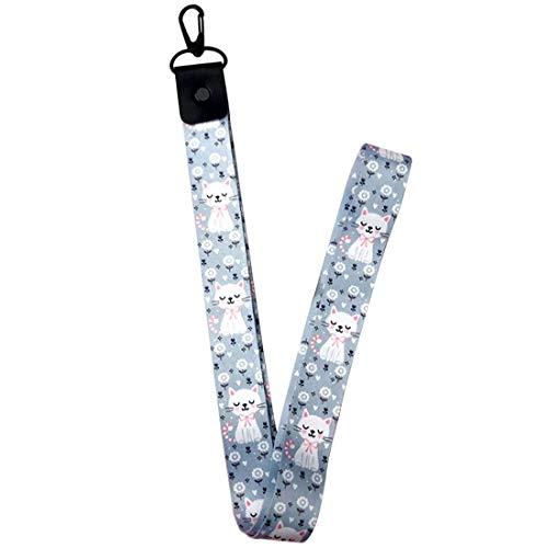 E-CHENG Mobile Phone Strap Flower Lanyard Neck Strap for Keys ID Card S for USB Badge Holder DIY Hang Rope (Cat Long) - 2125 Usb