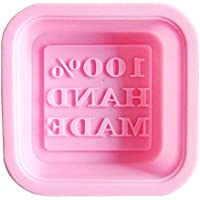 Molde de Jabon - SODIAL(R)Molde de Jabon de Hecha A Mano de Silicona Cuadrado, Molde de Tartas DIY (Color Aleatoriamente)