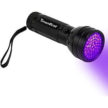 High Quality LemonBest Bright 395 Nm 51 UV LED Flashlight Black Light 3AA Battery  Camping Ultra Violet Outdoor