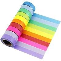 Multi-pattern Washi Tape 10rotoli nastro adesivo carta decorativo Masking Tape Scrapbooking adesiva Mix-B