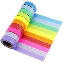 LATH.Pin Washi Tapes decorativo nastro adesivo nastro adesivo carta colorato roll Masking Tape Set di 10