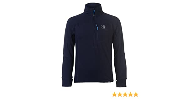 44061f6f176 Karrimor Mens Grid Three Quarter Zip Walking Top Fleece Sweatshirt Jumper  Long Navy Blue L  Amazon.co.uk  Clothing