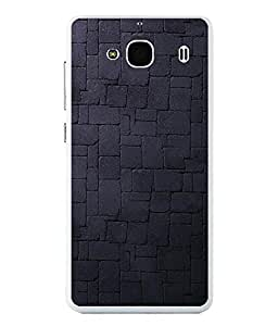 FUSON Designer Back Case Cover for Xiaomi Redmi 2 :: Xiaomi Redmi 2S :: Xiaomi Redmi 2 Prime (Blue Dark Pattern Net Pattern Crazy Artistic Line pattern)