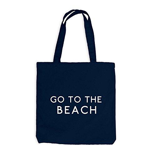 Jutebeutel - Go To The Beach - Strand Meer Maritim Navy