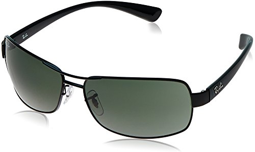 Ray ban rb-3379-002-64 Rectangle Sunglasses Black Rb 3379 00264- Price in  India 85f40ef1de