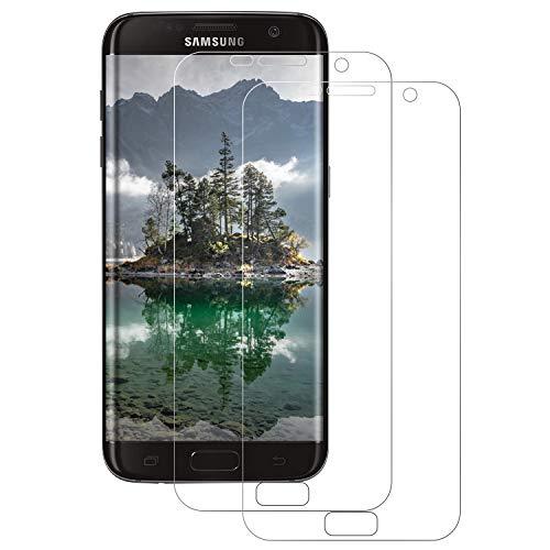 FayTun 3D Schutzfolie kompatibel mit Samsung Galaxy S7 Edge, [2 Stück] Displayschutz,[Full Cover],[blasenfrei],[Anti-Kratzer],[HD Ultra-Klar] kein Glas sondern Galaxy S7 Edge Displayschutzfolie TPU