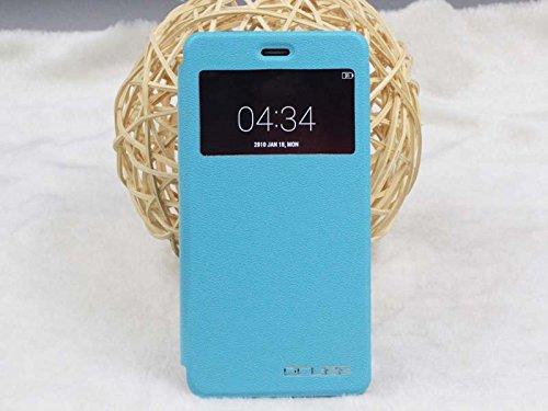JIAYU S3 Pu Leder Kunstleder Flip Cover für JIAYU S 3 5.5 Zoll 3G Smart Phone Handy Tasche Hülle Case Handytasche Handyhülle Schutzhülle Etui Halter Halterung Handyhalter (Blau)