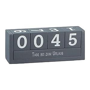 Cepewa Würfel-Kalender – Würfel-Countdown 18×7 cm – 4 Würfel mit Ziffern & 2 Themenleisten mit 8 Sprüchen – Ideale Geschenkidee für Freunde, Familie & Verwandte –