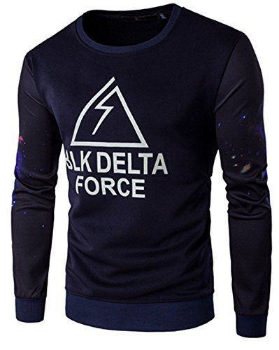 Men's Fashion Slim Sit Knitting Crew Neck Pullover Sweatshirt Navy