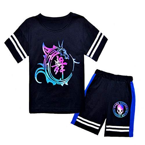 Kostüm Dance Crew - Hübsches Gedrucktes Kinder T-Shirt 2-teilig Hip Hop Street Dance Kostüm 4-14 Jahre Alt