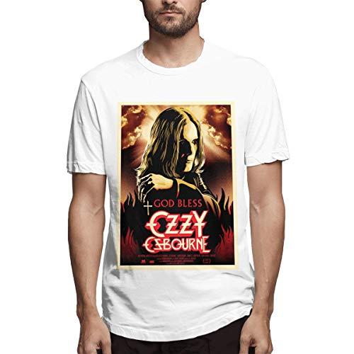 WAQL-Fashion Hombres Adultos God Bless OZZY Osbourne Algodón...
