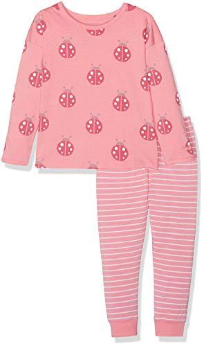 Bellybutton Kids Baby-Mädchen Zweiteiliger Schlafanzug 2tlg. T-Shirt 1/1 Arm, Lange Hose, (Geranium Pink|Rose 2390), 92