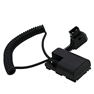 Alvin's Cables Lanparte LP E6 Dummy Battery to D-Tap Coiled Cable for SmallHD Monitor Canon 5D mark II 7D 60D
