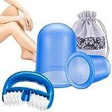 Ventouse Anticellulite, GOEU 2 Cup Ventouse Cellulite, Roller Minceur Appareil Anti Peau D'Orange Cup Massage Efficace pour Fesse, Cuisse, Jambe, Ventre, Bras