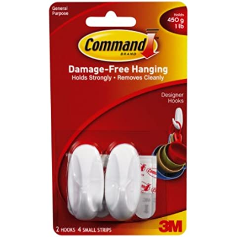 Command 17082, Set di ganci con strisce adesive, 2 pz.
