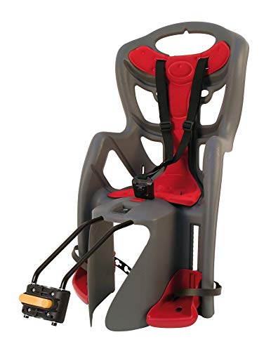 Bellelli Child Bike Seat Pepe Frame Mounted Colour: anthracite/red - Fully T??V/GS certified under EN14344:2004 Regulations by Bellelli