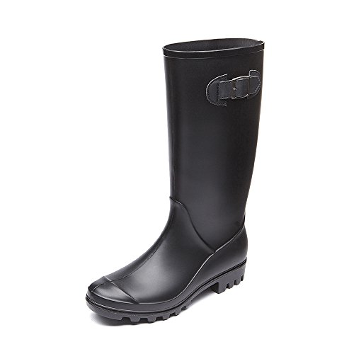 DKSUKO Womens Wellies Wellington Boots Waterproof Boots with Buckle for Ladies