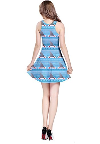 CowCow Damen Kleid blau navy Blue Fins
