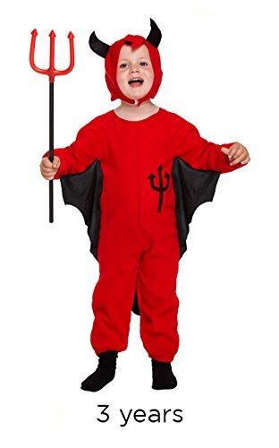 FASCHINGSKOSTÜM KLEINKIND DEVIL, 3 (Uk Teufel Zubehör Kostüm)