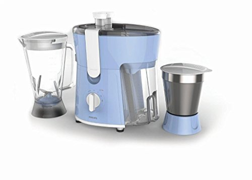 Philips Amaze HL7575/00 600-Watt Juicer Mixer Grinder with 2 Jars (Celestial Blue/Bright White)