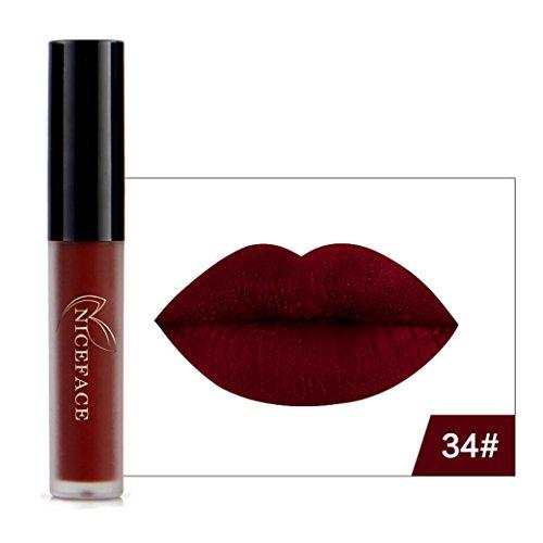 AMUSTER.DAN Halloween Style Lipgloss Makeup Matte Liquid Lipstick Wasserdichte Lippenstift Lip Liner Lippenkonturenstift (H) -