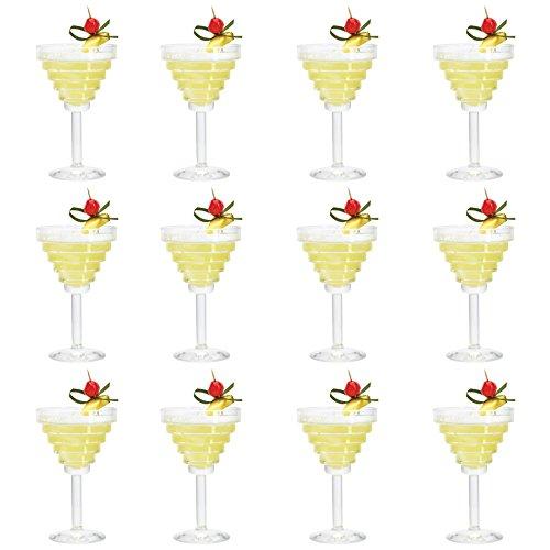 Durobor bicchieri modello etore, per martini/margarita/cocktail/bevande, da 260 ml - confezione da 12
