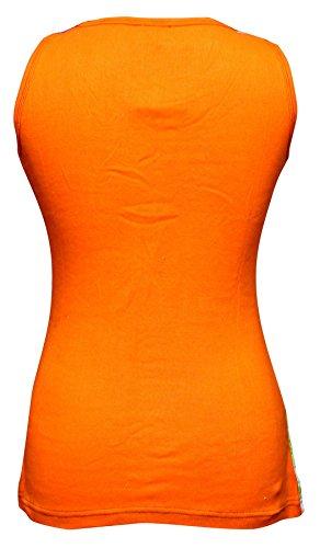 SHOPOHOLIC FASHION-Canottiera hippie arcobaleno, per donna Orange