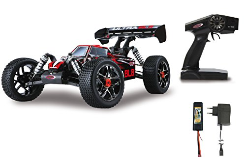 Jamara 059730 - Ultra BL8 Buggy 1:8 4WD Lipo 2,4GHz, Allrad, Brushless Motor, 60A Regler, spritzwasserfest, 60 KM/h, Öldruckstoßdämpfer, Fahrwerk einstellbar, Antriebswelle aus Stahl, fahrfertig