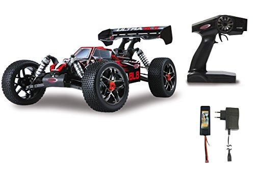 Jamara 059730 - Ultra BL8 Buggy 1:8 4WD Lipo 2,4GHz, Allrad, Brushless Motor, 60A Regler, spritzwasserfest, 60 KM/h, Öldruckstoßdämpfer, Fahrwerk einstellbar, Antriebswelle aus Stahl, fahrfertig (Brushless-motor Elektro-rc-car)