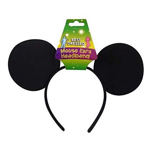 Felt Diadème en feutre avec oreilles de Mickey Noir