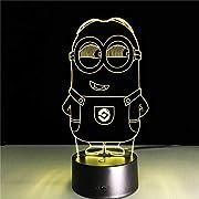 La lampada 3D visual creative è un'illuminazione artistica innovativa: ampiamente utilizzata in varie decorazioni ambientali, migliora l'atmosfera artistica ambientale, mostrando caldo e fresco impatto visivo 3D alla moda.  1. Risparmio energ...