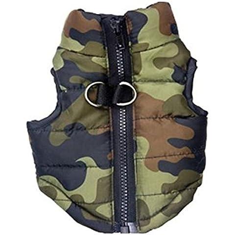 LEORX Pelaje del animal doméstico perro ropa cachorro Cotton-padded Vest ropa pecado mangas abrigo chaqueta - tamaño M