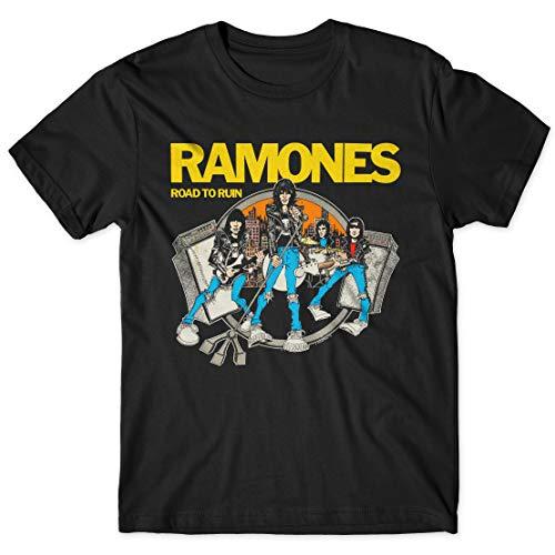 LaMAGLIERIA Camiseta Hombre Ramones Road To Ruin Cod Rs03 -...