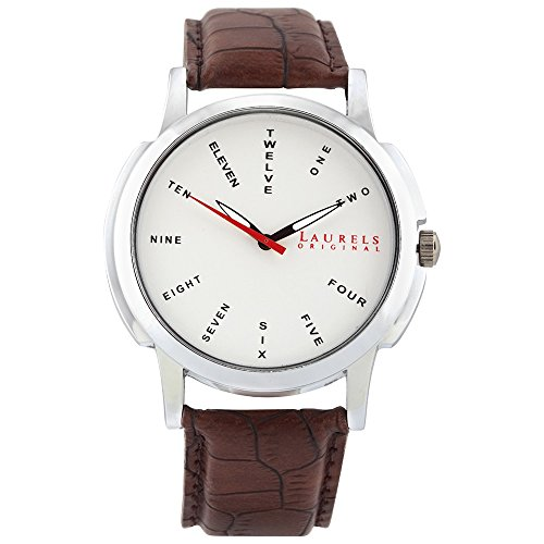 Laurels Maestro 2 Analog Silver Dial Men's Watch ( Lo-Mas-202)  available at amazon for Rs.499