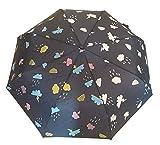 G4G Paraguas Que Cambia de Color con la Lluvia, para Mujeres, Hombres, pequeño, para Bolsillo, con Apertura automática, con Las Medidas de 56 cm Azul y Morado. (Azul)