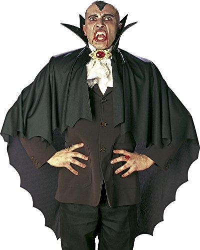 Cape vampire noire avec collerette 100 cm Halloween - taille - Taille Unique - 229904